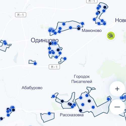 Карта Belkacar Одинцово