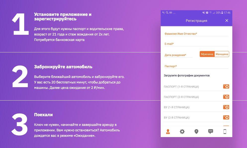 Регистрация в каршеринге Воронежа
